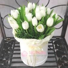 """Тюльпаны в коробке """"Король Эльфов"""""""