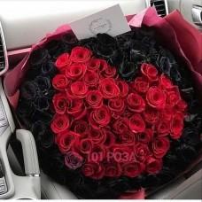 """101 Роза """"Черный Топаз"""""""