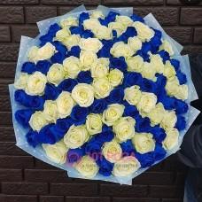 "Букет Роз ""Голубая лагуна"""