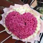 """101 Роза """"Сердца трех"""""""