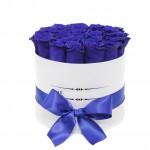 """Синие Розы в шляпной коробке """"Синева"""""""