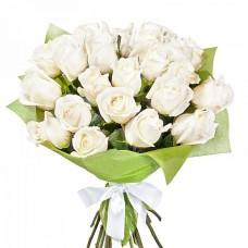 """25 Роз """"Белые лебеди"""""""