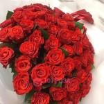 """51 Роза """"Красный жемчуг любви"""""""
