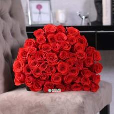 51 красная Голландская Роза