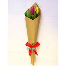 Букет из 3 Тюльпанов микс