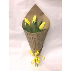 Букет из 3 желтых Тюльпанов