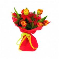 Букет из 7 Пионовидных Тюльпанов
