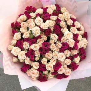 "Букет из кустовых Роз ""Сударыня"""