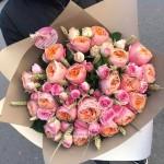 """Букет из пионовидных Роз  """"Драгоценные камни"""""""
