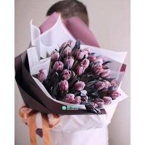 Букет коричневых Тюльпанов
