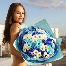 "Букет Хризантем ""Голубая лагуна"""