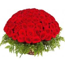 """101 Роза в корзине """"Клеопатра"""""""