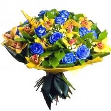 """Букет из Роз и Орхидей  """"Заколдованный лес"""""""