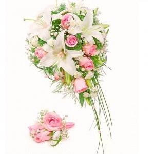 Букет невесты из Лилий и Роз №6