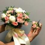 Букет невесты из Пионов №16