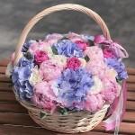"""Букет цветов в корзине """"Очарование"""""""