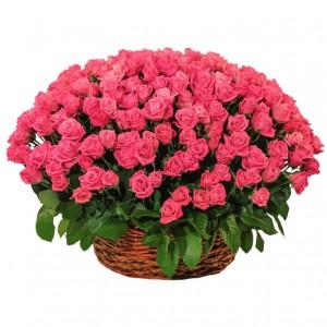 """101 Роза в корзине """"Нежность"""""""