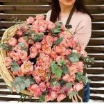 """Букет из пионовидных Роз """"Мальвина"""""""