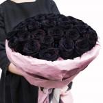 Роза черная 1 шт.