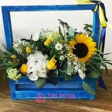 """Цветы в ящике """"До свидания, лето!"""""""