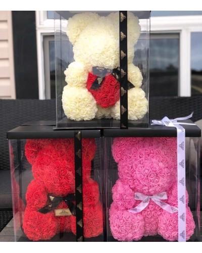 Мишка из роз в ассортименте