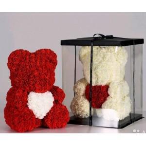 Мишка из Роз с сердцем