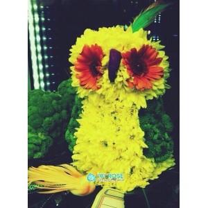 """Игрушка из цветов """"Попугай"""""""