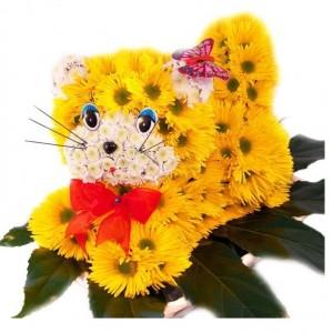 "Игрушка из цветов ""Кошка"""