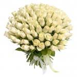 """101 ароматная Роза """"Белый лебедь"""""""