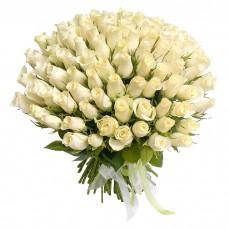 """101 Роза """"Белый лебедь"""" (Кения)"""