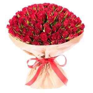 """101 Роза """"Пламенный"""" (Кения)"""
