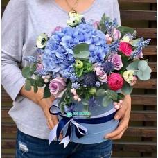 """Букет цветов в коробке """"Бирюза"""""""