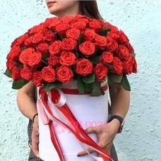"101 Роза в коробке ""Июль"""