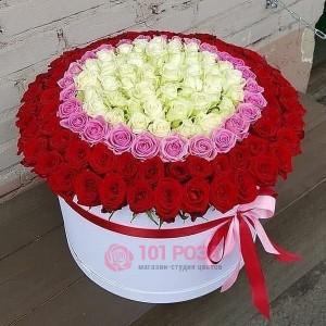 """101 Роза в коробке """"Мишель"""""""