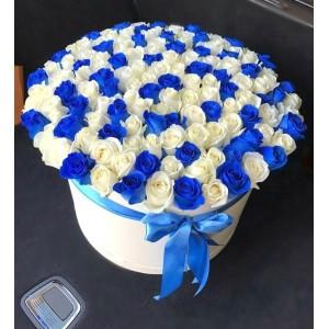 """101 Роза в коробке  """"Любимой"""""""