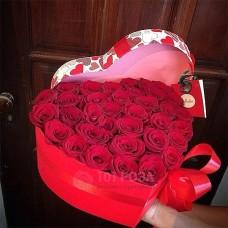 """Розы в шляпной коробке """"Вечерние звезды"""""""