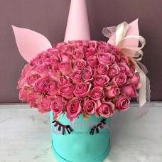 """Розы в коробке """"Барбадос"""""""