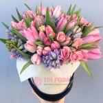 """Букет из Роз и Тюльпанов """"Розовое чудо"""""""