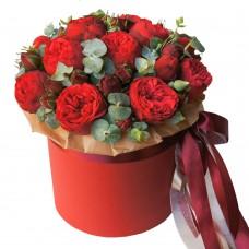 """Пионовидные Розы в коробке """"Дивный вечер"""""""