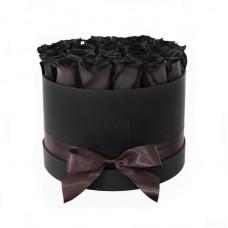 """Черные Розы в коробке """"Млечный путь"""""""