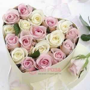"""Розы в коробке """"Сердечко"""""""