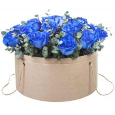 """Розы в шляпной коробке """"Одесса"""""""