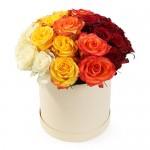 """Розы в коробке """"Триколор"""""""