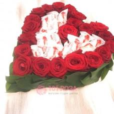 "Сердце из Роз и конфет ""Даме сердца"""