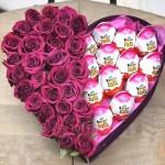 """Сердце из Роз и конфет """"Только тебе"""""""