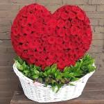 Сердце 3d из 201 Розы