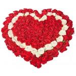 "Сердце из Роз ""Шелковое сердце"""