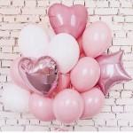 Воздушные шары розовые - связка