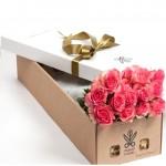 """15 Роз в дизайнерской коробке """"Сисилия"""""""