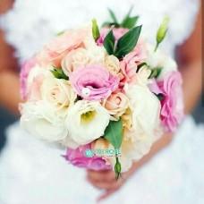Букет невесты с Эустомой и Розой №22
